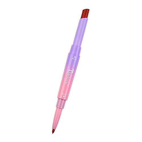 MERIGLARE Crayon à Lèvres Imperméable à Double Tête Rouge à Lèvres - Jacinthe