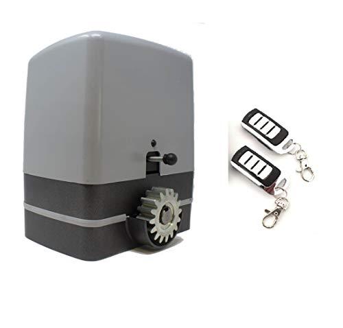 KIT Motor corredera VDS Carrera 800 Kg, para automatizar puertas y cancelas correderas de uso residencial, parking, garaje, cochera, alta calidad con 2 mandos alta seguridad