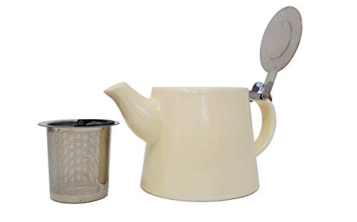 McEntee's Cara Teekanne aus Keramik, 510 ml (1–2 Tasse) mit herausnehmbarem Edelstahl-Teesieb.