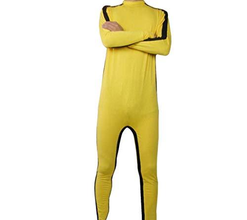 Gele vechtsportkleding - Arts-jumpsuit Bruce - Ademende katoenen stof - Chinese Kungfu-trainingskleding,XL