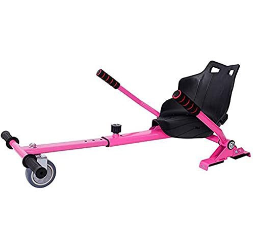 Newut Einstellbare Hoverkart-Sitzbefestigung mit großem Sitz Haltbarer Rad für elektrische Selbstausgleichs-Roller 6.5/8/10 Zoll HOVERBOARDS für Kinder und Erwachsene,Rosa