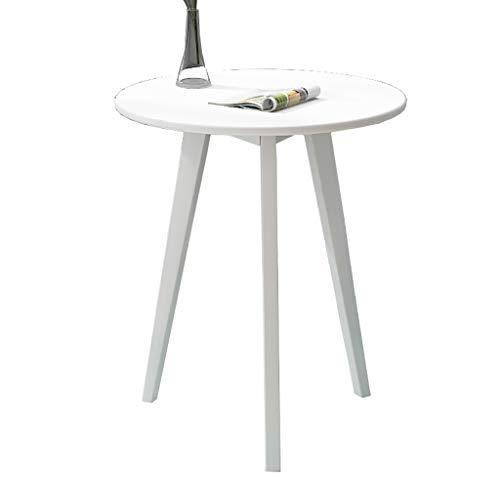 Couchtisch, Nordischer Runder Tisch, Sofa-Side Table/Bay Fenstertisch, Verhandlungstabelle, Für Wohnzimmer, Balkon, Schlafzimmer, 2 Farben (Color : B, Size : 48×48x70cm)