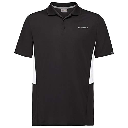 HEAD Club Tech, Polo Uomo, Nero, M