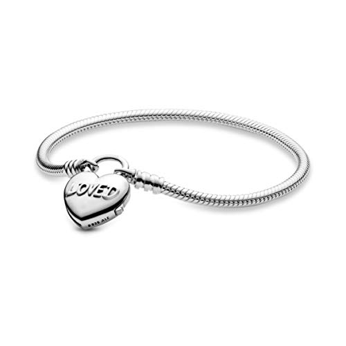 Herz-Verschluss Schlangen-Gliederarmband