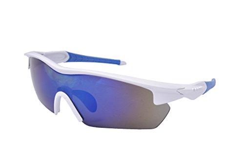 Ocean Sunglasses - Tour - lunettes de soleil polarisées - Monture : Blanc/Bleu - Verres : Revo Bleu (3801.1)