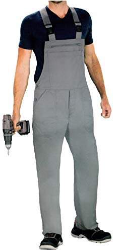 Brandsseller Arbeits Latzhose Arbeitskleidung Handwerkerlatzhose Berufsbekleidung Grau XXL/58