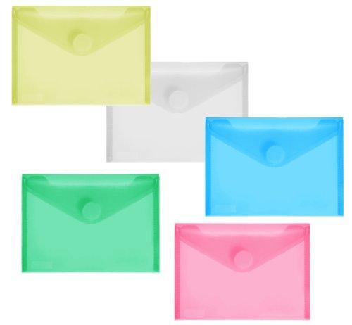 PP-Umschlag A6quer, farb.sort klar, 10 Stück