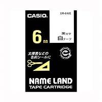 (まとめ) カシオ ネームランド用テープカートリッジ スタンダードテープ 8m XR-6WE 白 黒文字 1巻8m入 【×5セット】