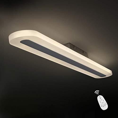 ZMH LED Deckenleuchte Panel Dimmbar mit Fernbedienung 87 CM 35 Watt Deckenlampe aus Metall und Acryl für Schlafzimmer Esszimmer Arbeitszimmer Flur Balkon Büro