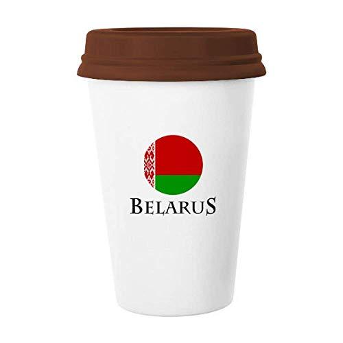 Weißrussland Osteuropäische Minsk-Flagge Tasse Kaffee Trinkglas Keramik Tasse Deckel