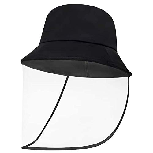 RINGLICHT F Protection Hat Splash Fog UV Hat Face Isolation Anti-Pollution Hat,Caps for Protection Measures Unisex 2 in 1 Anti Saliva Anti-Spitting Hat