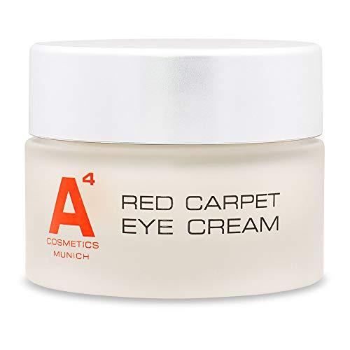A4 RED CARPET EYE CREAM (15ml) Hochdosierte Anti-Aging Augenpflege auf natürlicher Basis. Augencreme die Augenringe, Tränensäcke, Krähenfüße und Fältchen deutlich mildert.
