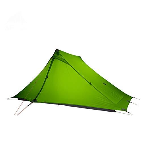 Mdsfe 3F UL GEAR LanShan 2 pro Tent 2 Person 3 Season Outdoor UltralightProfessional 20D Nylon Both Sides Silicon Camping Tent-4 Season green