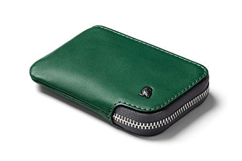 Bellroy Leather Card Pocket Wallet, schlanke Geldbörse mit Reißverschluss (Max. 15 Karten, Fach für Geldscheine und Münzen) - Racing Green