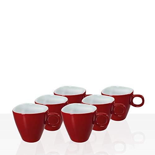 Alfredo Walküre Espresso-Tasse 6 Stk, rot