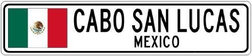 43LenaJon Mexiko Flagge Stadt Schild kleines Metallschild Vintage Street Metallschild Warnung Tür Home Decor Schild