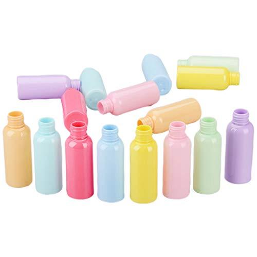 GROOMY Embotellado, 50ml Botella de Spray vacía Recargable de plástico Macaron Dulce Maquillaje de Color Caramelo Soporte de Almacenamiento de tóner de Agua Contenedor de cosméticos al Azar-1