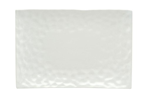"Red Vanilla Marble Rectangular Dinner Plate, Set of 4, 11"" x 9"""