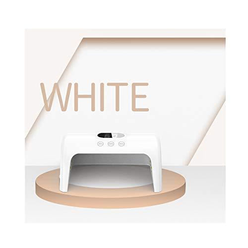 MODRYER Lámpara De Uñas UV, Esmalte De Uñas De 30 W, Detección Automática Inteligente, Gel UV, Máquina De Manicura Profesional, con 3 Configuraciones De Temporizador 30/60 / 99S,White
