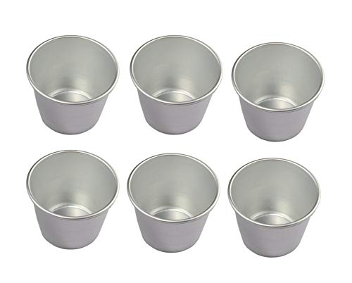 UgyDuky Set of 6 Nonstick Individual Tumblers Popovers  Chocolate Molten Pans  Pudding Cups  Raspberry Souffle Pot  Darioles Ramekins Brownies Mold - Size 3 Inches