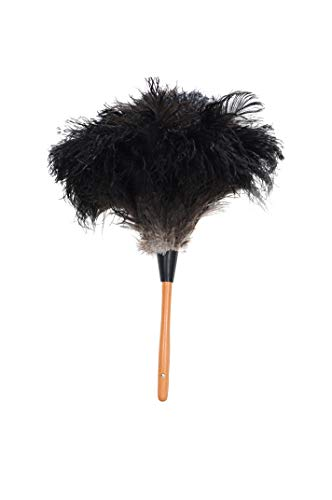 """ROYAL DUSTER Black Ostrich Feather Duster (14"""")"""
