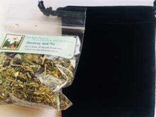 Spell Mix: Banishing ~ 22 G Bag Spell Mix ~ Black Velvet Bag ~ Ravenz Roost Herbs