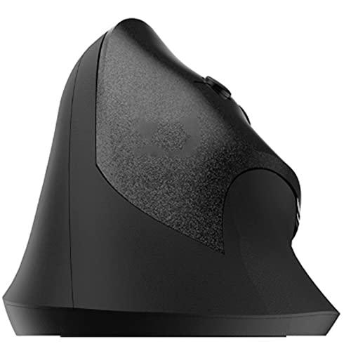 Crimper Ratón ergonómico inalámbrico Mouse Vertical avanzado 2.4GHz 6 Botones reducen la Mano y la tensión Muscular con USB Ratón cómodo del Receptor para computadora portátil de Escritorio