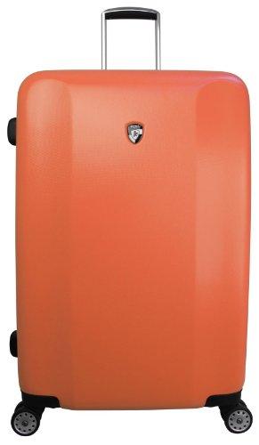 Koffer, Reisegepäck, Trolley by Heys - Premium Designer Hartschalen Koffer - Core Quad Orange Koffer mit 4 Rollen Gross