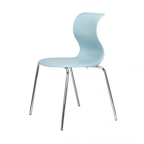 Pro 6 Stuhl mit verchromtem Gestell - aquablau