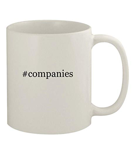 #companies - 11oz Ceramic White Coffee Mug, White