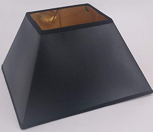 Lampenschirm Classic-rechteckig konische Form Schwarz-innen Gold