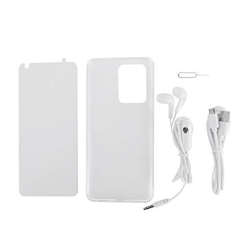 Teléfono de Pantalla Completa de 6.82 Pulgadas, teléfono con desbloqueo de Huellas Dactilares, batería de Iones de Litio de 3500 mah, Tarjeta SIM 3G, Soporte de expansión, teléfono(Black)