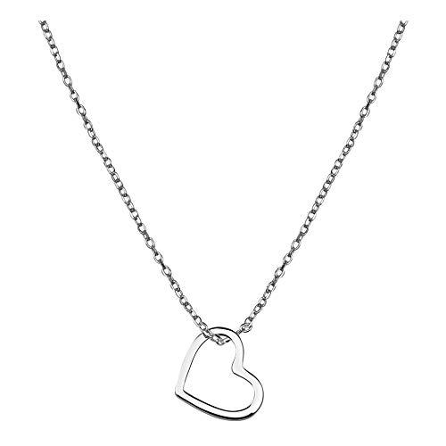 SOFIA MILANI - Damen Halskette mit Herz Anhänger - Aus echtem 925 Sterling Silber - 50129A
