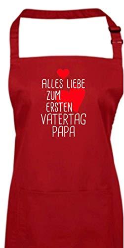 Shirtinstyle Delantal, Todo Amor para Primer el Día del Padre Papa, Día de la Madre Mamatag Mamá Mami Papatag Papa Papi, Delantal de Cocina, Delantal - Borgoña, 72 x 86 cm