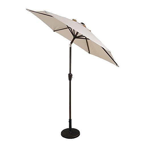DFBGL Sombrilla de jardín de 7 pies / 2,25 m Parasol para Exteriores para Playa/Piscina/sombrillas de Patio Protector Solar Redondo UV50 + (Color: Blanco Roto)