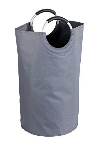 Wenko Wäschesammler Jumbo - Wäschekorb, Multifunktionstasche Fassungsvermögen: 69 l, Ø 38 x 72 cm, anthrazit