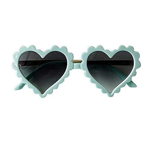 Cyhamse Gafas de sol para niños con forma de corazón, rayos ultravioleta, playa, fotografía, materiales de primera calidad, 6 colores disponibles