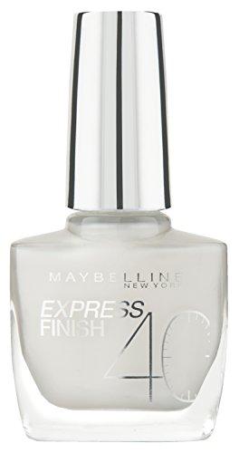 Maybelline New York Nagellack, Schnelltrocknend, Express Finish, Nr. 60/15 White Dream, 10 ml