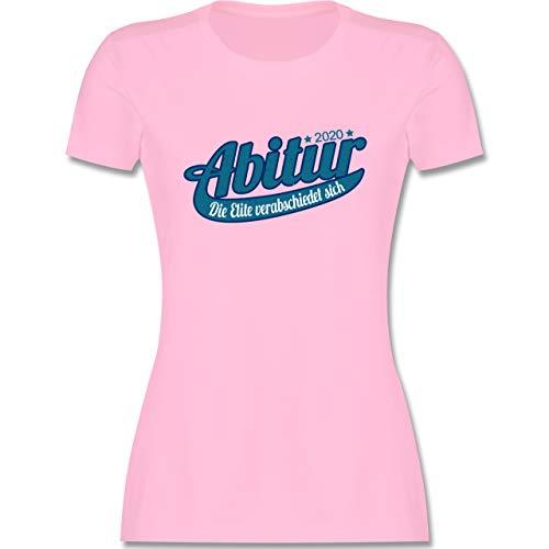 Abi & Abschluss - Abitur 2020 Die Elite verabschiedet Sich - S - Rosa - Abitur Geschenke - L191 - Tailliertes Tshirt für Damen und Frauen T-Shirt