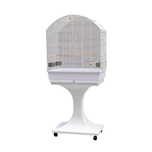 liushop Bird Cage Bird Cage Parrot Cage Large Budgerigar Cage Parakeet Cockatiel Small Parrot Travel Cage Metal Bird Cage Breeding cage with Wheel Pet Supplies (Color : A)