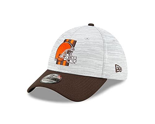 New Era Cleveland Browns - 39Thirty Stretch Cap - NFL 2021 Training - Dolphin Grey/Brown - L-XL (7 1/8-7 5/8)