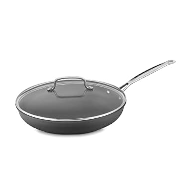 Cuisinart 622-30G Chef's Classic Nonstick Hard-Anodized 12-Inch Skillet with Glass Cover