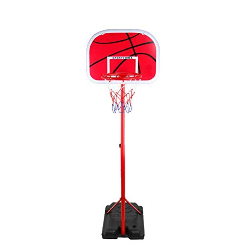 Dirgee Soporte de Baloncesto Potable para niños Interior y al Aire Libre Baloncesto Baloncesto Red de aro con Bola pequeña y Bomba Altura Ajustable 0.85-2M