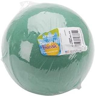 Floracraft Bulk Buy Wet Foam Ball 6 inch 1 Pack Green FNBA6S (3-Pack)