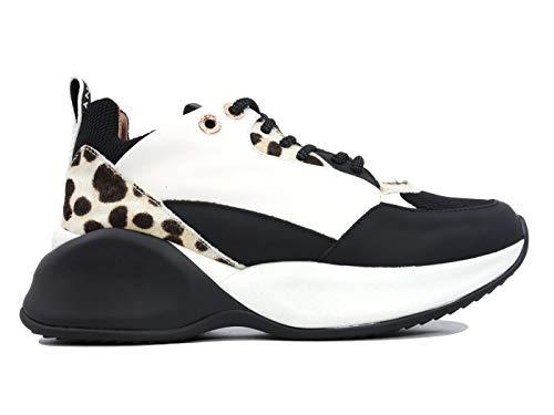 Alexander Smith SC72196 - Zapatillas de piel para mujer, color blanco y negro