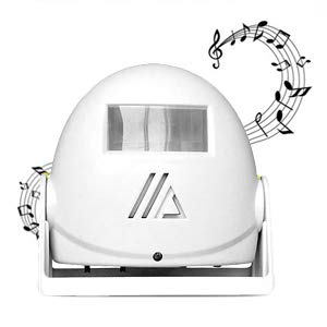 iPstyle IR Motion Sensor Alarm Doorbell Greeting Store Doorbells Wireless Alarm 10m Warning with Music, Voice for Market, Closer to Lives of Consumers, Shops, Factories, Home Various Occasions