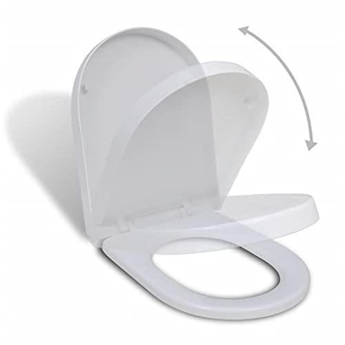 vidaXL Tapa de Inodoro Váter Asiento Cierre Suave Blanca Cuadrada Asiento WC