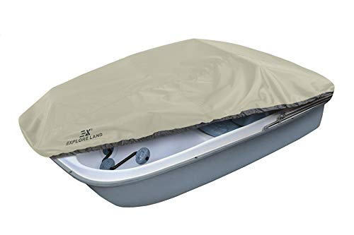 paddle boat or pedal boats Explore Land Pedal Boat Cover - Waterproof Heavy Duty Outdoor 3 or 5 Person Paddle Boat Protector, Tan