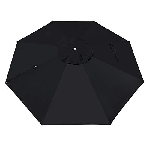 BenefitUSA Replacement Canopy for 11.5' Roma Cantilever Patio Umbrella Parasol Top Cover (Black)