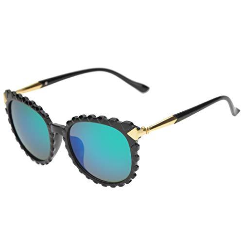 Mode Brillen Persönlichkeit wellenförmige Form Sonnenbrillen für Männer und Frauen Kunststoffrahmen Sonnenbrillen UV-Schutz Unisex-Sonnenbrillen umrandeten Sonnenbrillen für das Reisen bunte Linse Occ